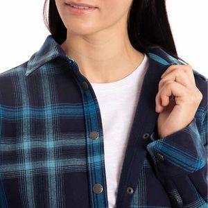 3f81677a2d3 Orvis Jackets   Coats - Orvis Ladies  Flannel Shirt Jacket Blue(Blue ...
